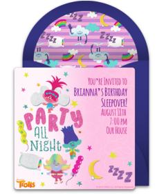graphic regarding Printable Sleepover Invitations named Totally free Sleepover Celebration On line Invites Punchbowl