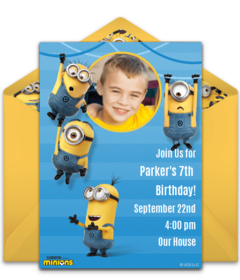 Free Despicable Me Online Invitations Minion Invitations