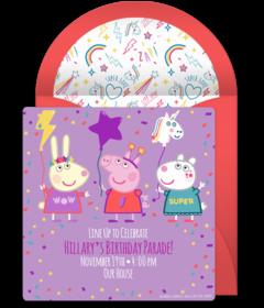 Free Peppa Pig Online Invitations