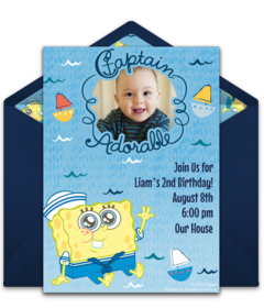 Free Spongebob Squarepants Online Invitations Punchbowl
