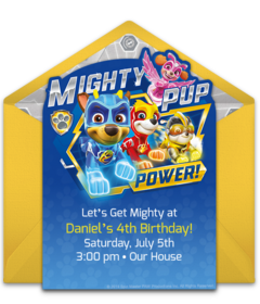 photograph regarding Free Printable Paw Patrol Invitations called Absolutely free PAW Patrol On the net Invites Punchbowl