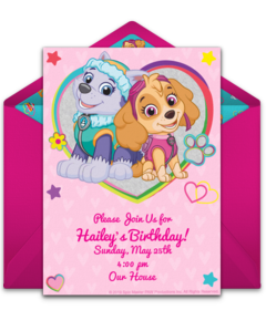 image about Paw Patrol Printable Birthday Card identified as Cost-free PAW Patrol On the web Invites Punchbowl