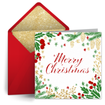 free christmas ecards text christmas cards looks like real stationery punchbowl free christmas ecards text christmas