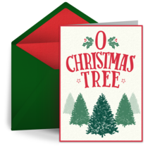 O Christmas Tree card image