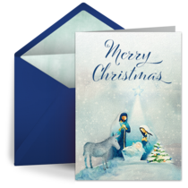 Christmas Manger card image