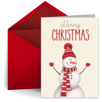 Watercolor Snowman  card image