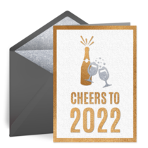 Cheers to 2021 New Year card image