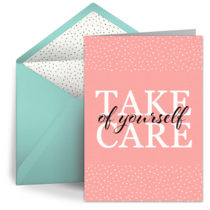 Take Care of Yourself Polka Dots card image