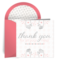 Thank You For Your Help card image