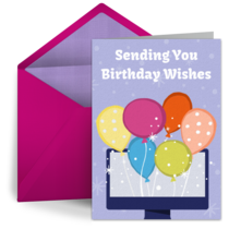 Virtual Birthday Balloons card image