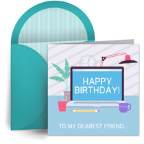 Virtual Birthday card image