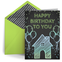 Birthday at Home card image