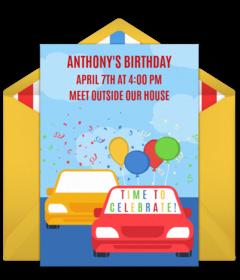 free birthday parade online invitations