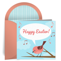 Happy Easter Bird card image