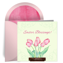 Easter Tulips card image