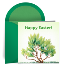 Easter Tree card image