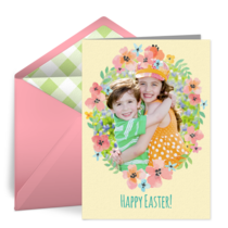 Floral Easter Photo Frame card image
