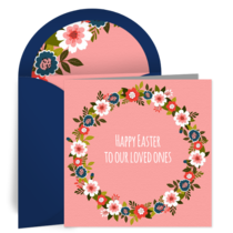 Easter Flower Wreath card image