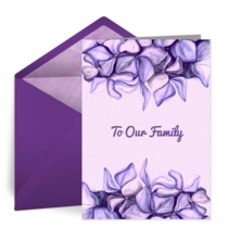 Purple Flowers card image
