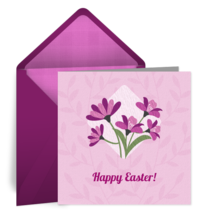 Easter Diamond Flower card image