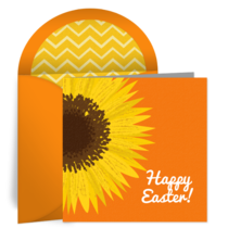 Easter Sun Flower card image