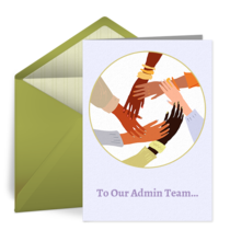 To Our Admin Team card image