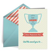 Best Admin Award card image