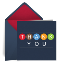 Circle Thank You card image