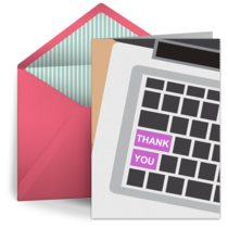 Admin Thank You Keyboard card image