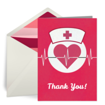 Thank You Heartbeat card image