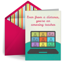 Distance Teaching card image
