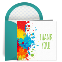 Paint Spots Thank You card image
