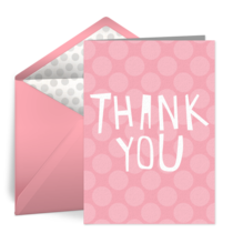 Pink Dots Thank You card image