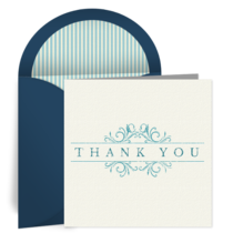 Thank You Linen card image