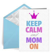 Keep Calm and Mom On card image