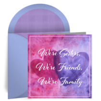 Sister, Friend, Family card image