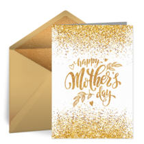 Golden Mother's Day card image