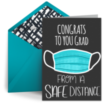 Congrats from a Distance card image