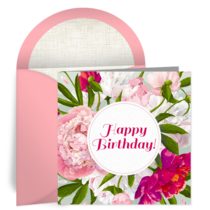 Birthday Floral card image
