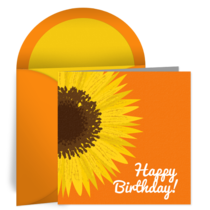 Birthday Sunflower card image