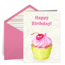 Frosted Cupcake card image