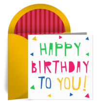 Birthday Cutout card image
