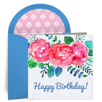 Summer Birthday Bouquet card image