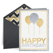 Birthday Sparkle card image