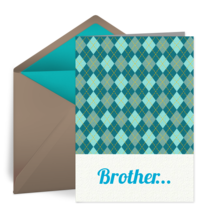 Brother Plaid card image