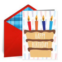 Birthday Layer Cake card image