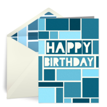 Blue Blocks card image