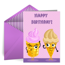 Ice Cream Happy Birthday card image