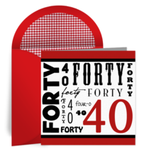 Wordy Forty card image