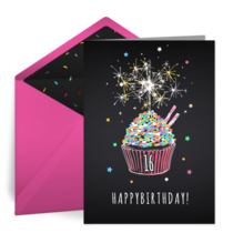 Sweet 16 Cupcake card image